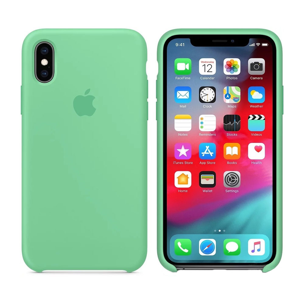 Чехол IPhone XS Silicon Case MVF52ZM/A Spearmint